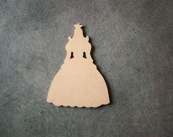 Princess wooden MDF holder to decorate, paint 12.5 cm x 8.5 cm