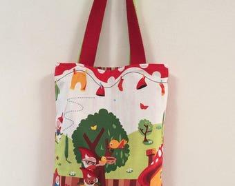 "Tote bag ""fairy tales"" (7 dwarfs) reversible"