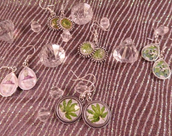 "Earrings ""Botanic"" Creat'Yon - simple and beautiful."