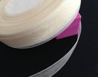 Ribbon > organza > width 2.1 cm > ivory