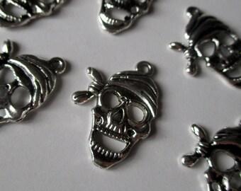 x 1 charm - Pirate treasure - metal - jewelry customization