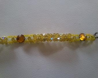 Beautiful yellow swarovski crystal bracelet