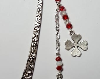 Small bookmark lucky red and white