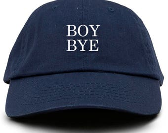 Boy Bye Dad Hat Adjustable Baseball Cap New - Navy