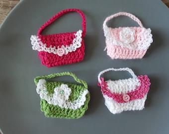 Set of mini hand made crochet bags
