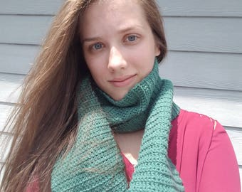 Knitted Scarf- Emerald