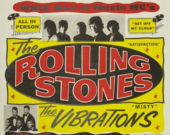 ROLLING STONES Concert Poster - Giclee Reproduction Full Colour Wall Art Print