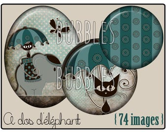 Digital collage sheets - Kitten Printable Images for Jewelry Making