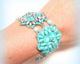 """Pearls bracelet """"Crystalline Turquoise!"""""""