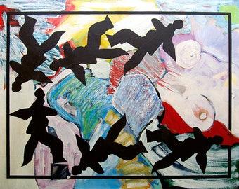 Sleep 1. Oil on canvas and frame