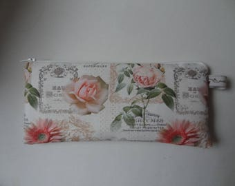 """""""Roses and Scripture"""" shabby chic style clutch"""