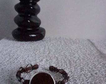 Brown aluminum bracelet