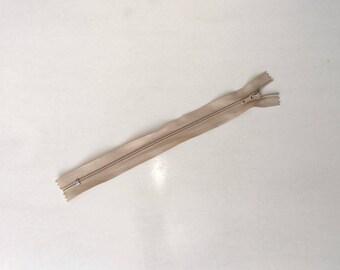 Zip closure (zip) slides, not separable, beige sand in 20 cm