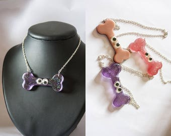 Resin bone necklaces