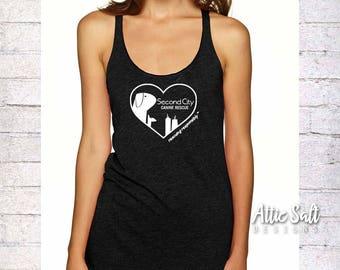 Women's Flowy Tank Top - Heart Logo