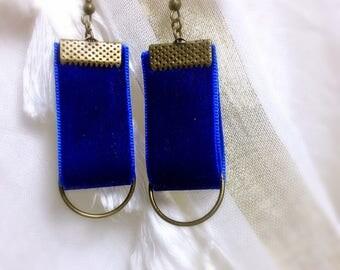 Blue Velvet Bohemian earring