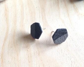Earrings leather - leather earrings