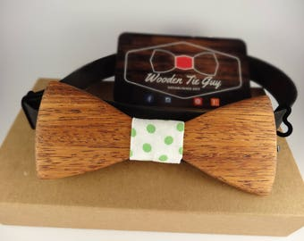 Merbau Hand Crafted Wooden Bow Tie