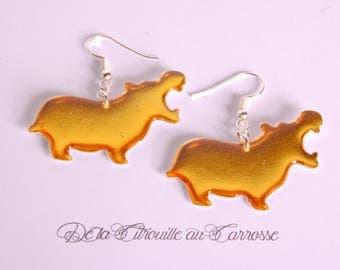 Plain gold Hippo earrings