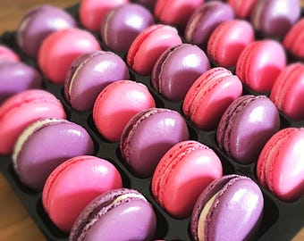 35 French Macarons Luxury Gift Box / 35 melt in your mouth delicios treats