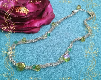 Beaded art necklace* handmade jewellery by Nellykecollection