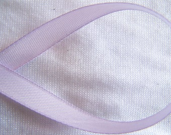 Satin ribbon, single side, purple, width 10 mm (S-044)