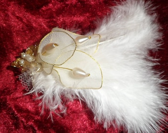 for bridal or evening hair pattern lilies and pearls