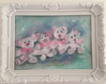 "Adorable little bears and their pink bows ""so shabby"""