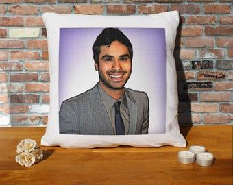 Kunal Nayyar Pillow Cushion - 16x16in - White