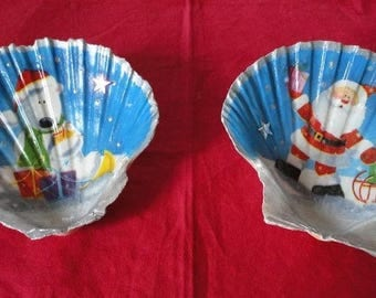 Duo of shells lanterns for festive Christmas table (No.2)