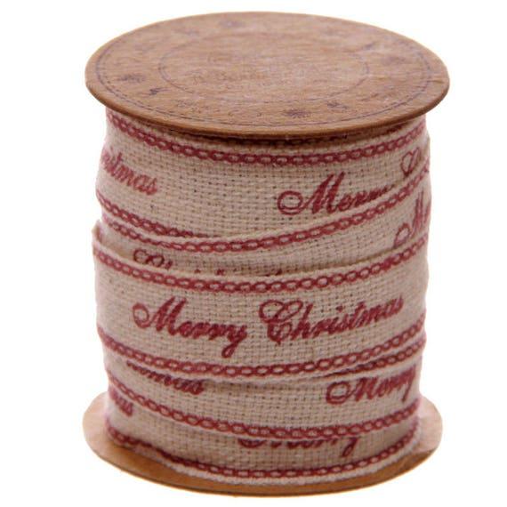 Spool of Christmas 3 meter tape - pattern: merry christmas
