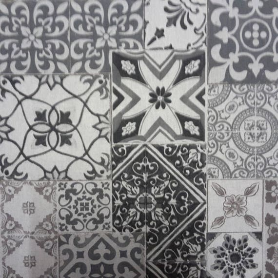 Coupon design old cement tiles fabric