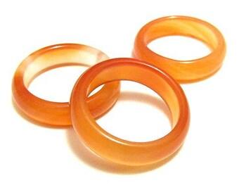 Ring natural stone - orange agate Bangle