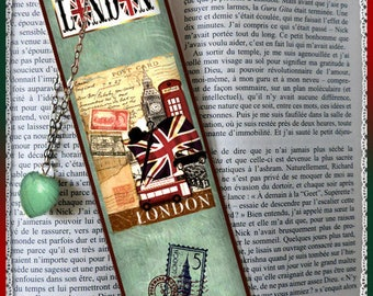 "Laminated bookmarks ""so british"""