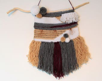 Wall weaving wool tassels and fringes