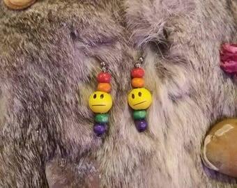Rainbow Frowny Face Earrings