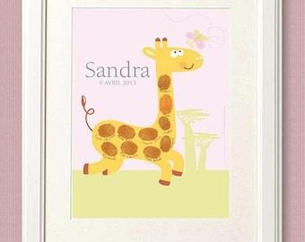 Baby Shower fingerprint / 18x24cm / 10 prints / print on paper or canvas