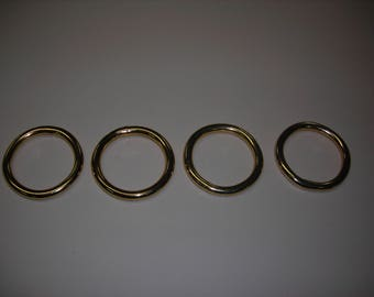 Soldered wire finish 6.5 42 golden ring for bags