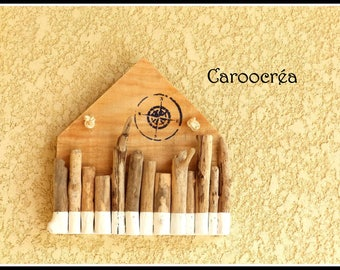 Driftwood decor, home driftwood, wall decor, driftwood, compass, sea decoration, nautical decor