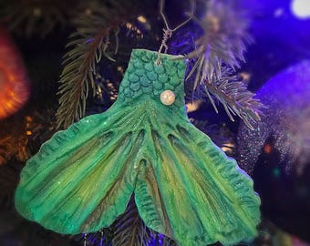 Handmade Clay Mermaid Tail Ornament