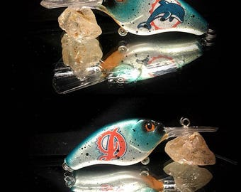 Custom Painted Sports Team Logo Fishing Lure