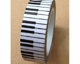 Washi tape (washi) - piano keys