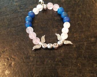 Child's Angel Wing and Cross Bracelet