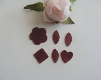applique patterns matching Burgundy color leather