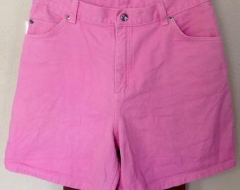 Vintage Pink Arizona High Waist Denim Shorts