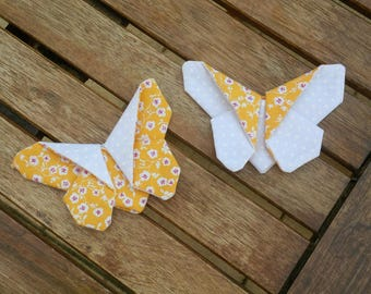 Set of two origami butterflies