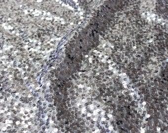 "55"" Wide Taffeta Rain Drop - CHARCOAL Sequin Fabric - Sold By The Yard - Sequin Taffeta Sequin Fabric"