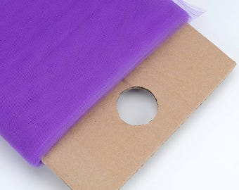 "54"" Wide x 40 Yards (120feet) Tulle Bolt for Weddings, Decoration, Apparel and Crafts - PURPLE"