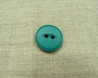 Acrylic button with 2 holes - 18 mm - Green