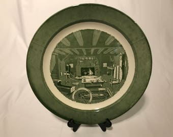 Large Platter Colonial Homestead, Royal China, Size 13 1/4 inches